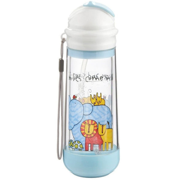 drinkadeux water bottle Sky Zoo drinkadeux Glass Double Wall Insulated Bottle With Straw (4 Designs)