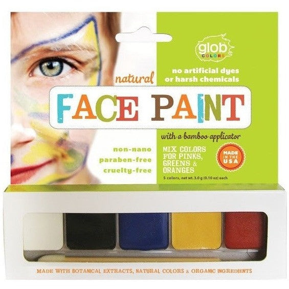 Glob Face Paint Glob Natural Face Paints - 5 Colour Pack