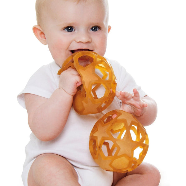 Hevea baby toy Hevea Natural Rubber Star Ball (0+ months)
