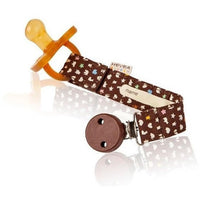 Hevea pacifier holder Brown Hevea Organic Cotton Pacifier Holder (3 Colours)