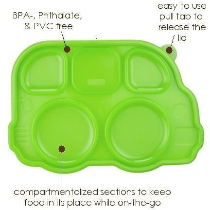 Innobaby lunch container Innobaby Din Din Smart Divided Stainless Platter with Lid