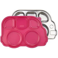 Innobaby lunch container Pink Innobaby Din Din Smart Divided Stainless Platter with Lid