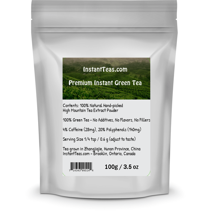 InstantTeas.com Instant Tea Black Instant Tea Premium Instant Tea: Unsweetened Tea Powder, No Fillers, Additives, Flavors (2 types)
