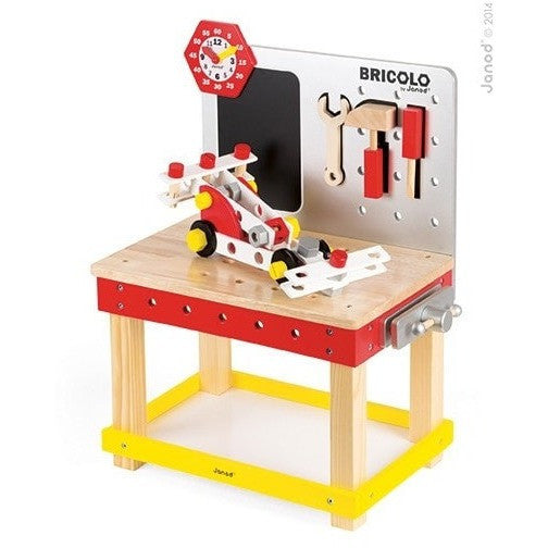 Janod Construction Redmaster DIY Giant Magnetic Workbench (Age 3 - 8 years)