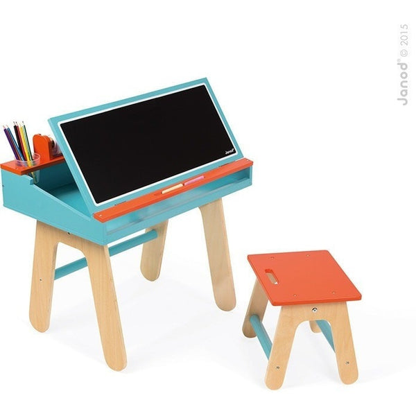 Janod Desk Janod - Orange and Blue Kids Wooden Desk (3 - 5 Years)