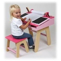 Janod Desk Janod - Pink Kids Wooden Desk (3 - 5 Years)