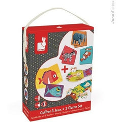 Janod games Janod 3 Game Set (Ages 3 - 8)