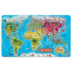 Janod games Janod Magnetic World Map (Ages 7+)