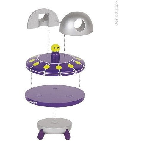 Janod Wood Toys Janod UFO Magnet Wood Toy (Ages 2 - 6)