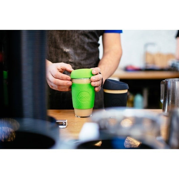 JOCO Reusable Cup JOCO Reusable Glass and Silicone 12 oz Coffee Cup (3 Colours)