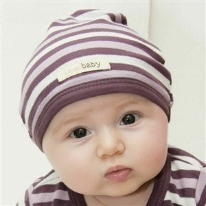 L'ovedbaby baby hat Newborn L'oved Baby Cute Cap Organic Cotton Eggplant Striped (3 sizes)