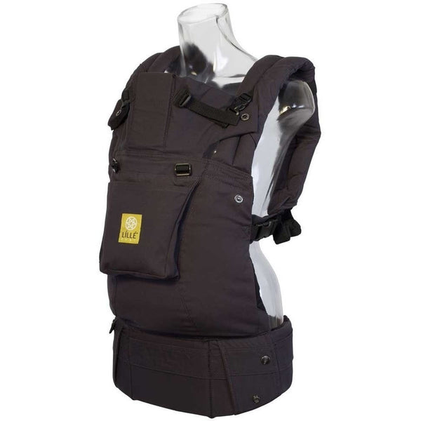 LilleBaby - Complete Original Baby Carrier - Charcoal and Black (Newborn - 48 months)