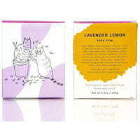 Meow Meow Tweet Soap Lavender Lemon Organic Body Soap Bar