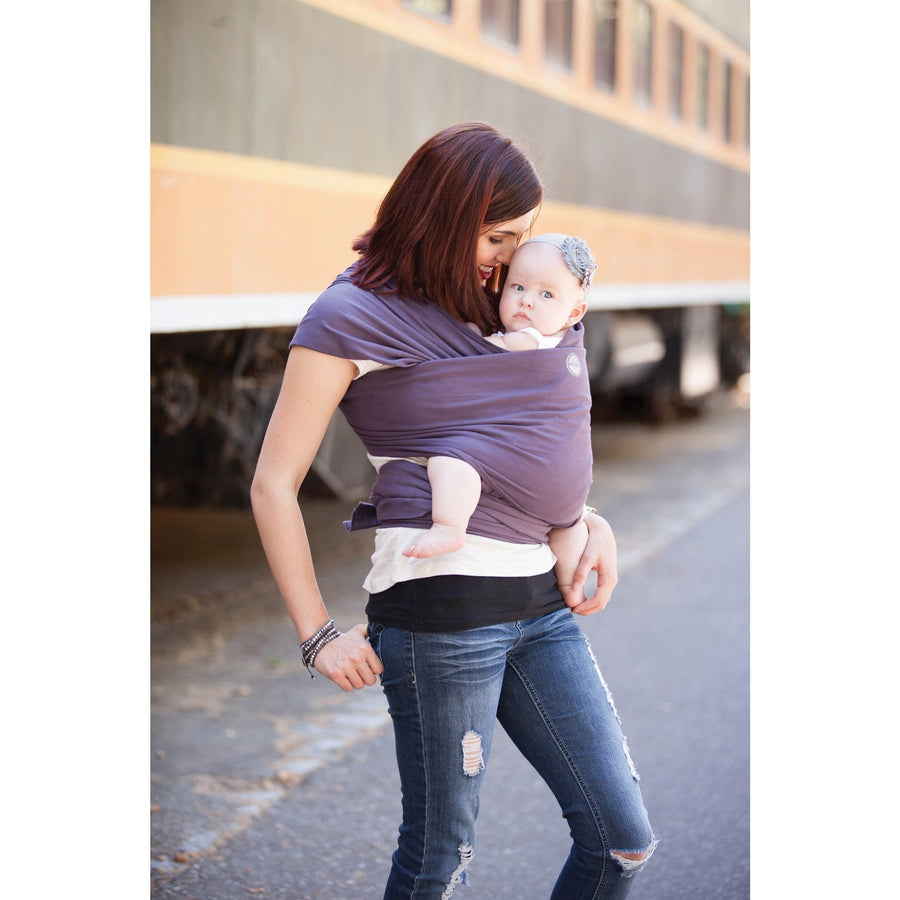 Moby baby carrier Eggplant Moby Wrap Organic (8-35 lbs) Eggplant