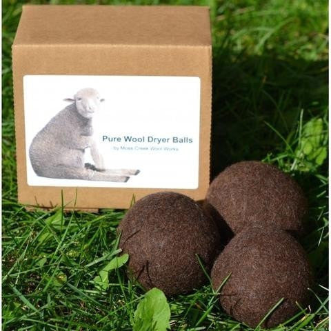 Moss Creek Dryer Ball Brown Moss Creek Canadian Made Wool Dryer Balls (Set of 3)