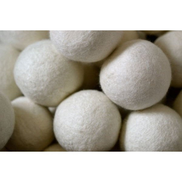 Moss Creek Dryer Ball White Moss Creek Canadian Made Wool Dryer Balls (Set of 3)