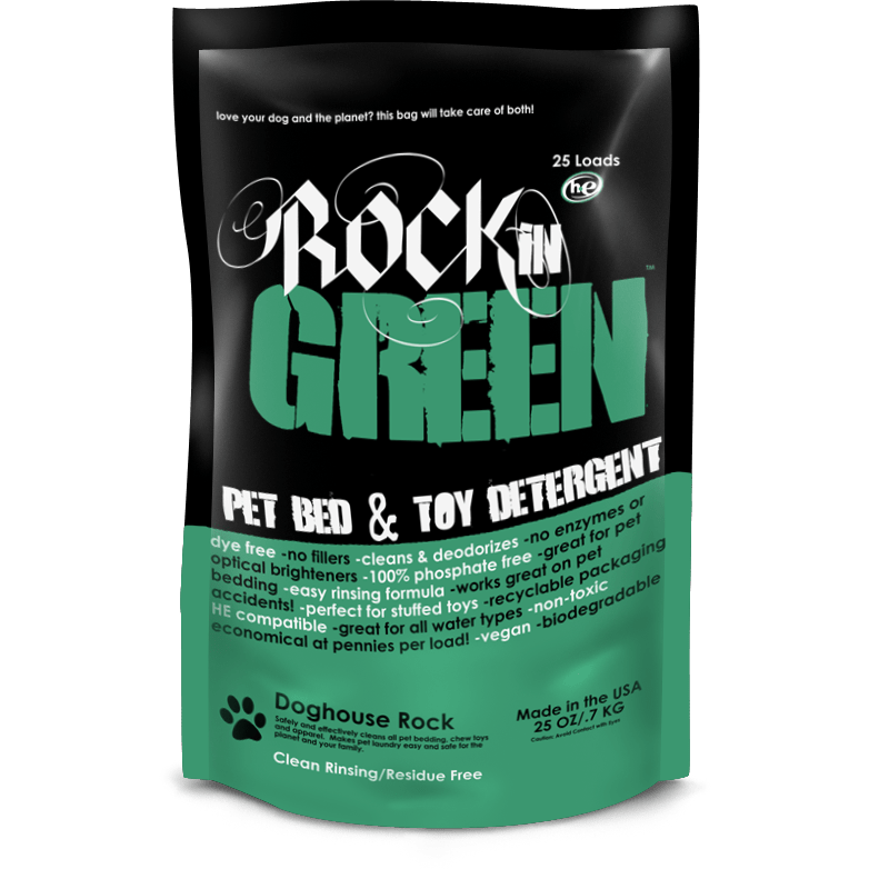 Rockin' Green Laundry Detergent Rockin' Green Doghouse Rock - Pet Toy and Bedding Detergent