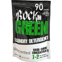 Rockin' Green Laundry Detergent Unscented Hard Rock - Laundry Detergent