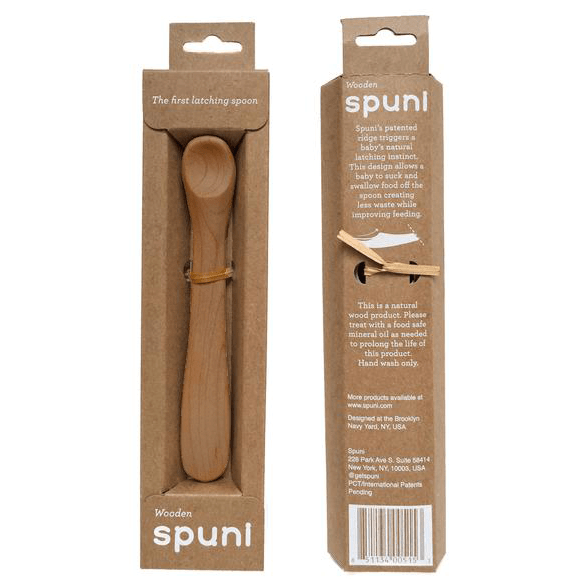 Spuni Baby Spoon Maple Spuni The First Latching Wood Baby Spoon (4+ months) (2 options)