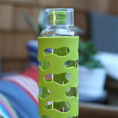 U Konserve water bottle U Konserve 20oz / 591ml Glass Bottle w Silicone Sleeve (Four Colours)