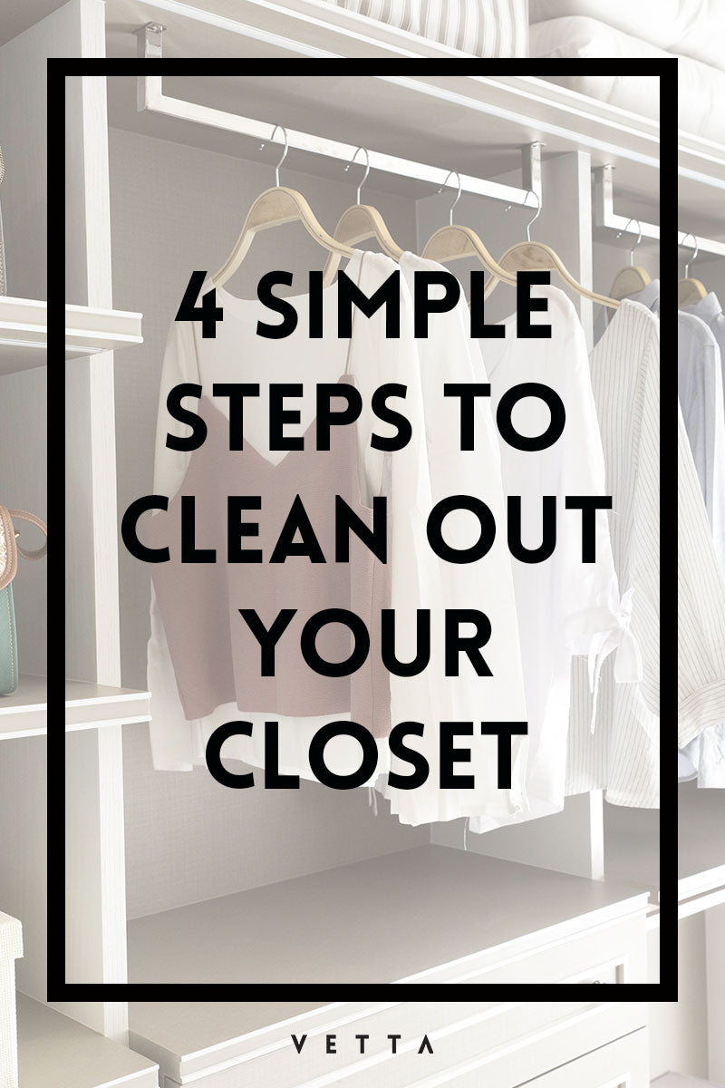 4 simple steps to cleaning out your closet vetta - Cleaning out your closet ...
