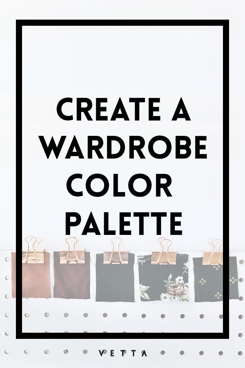 create a wardrobe color palette