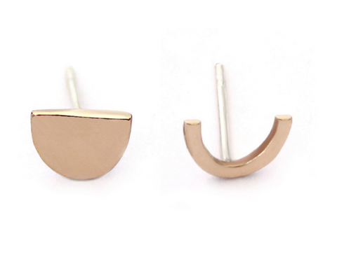 spring capsule wardrobe upper metal class earrings