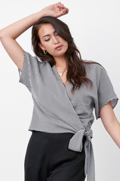 VETTA The Convertible Tie Blouse capsule wardrobe