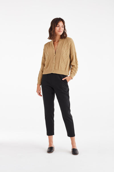 VETTA The Cropped Cable Knit Sweater capsule wardrobe