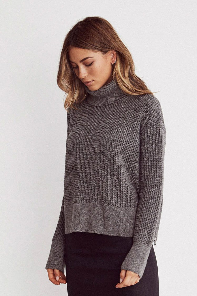 VETTA The Cropped Mockneck Sweater capsule wardrobe