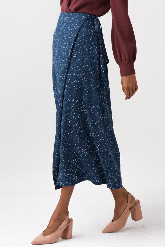 VETTA The Midi Wrap Skirt capsule wardrobe