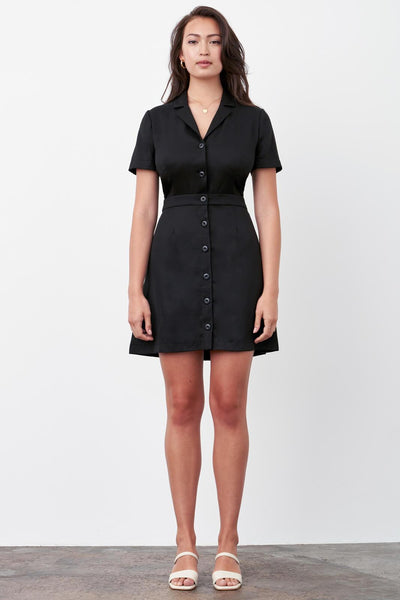 VETTA The Notch Collar Two Piece Dress capsule wardrobe