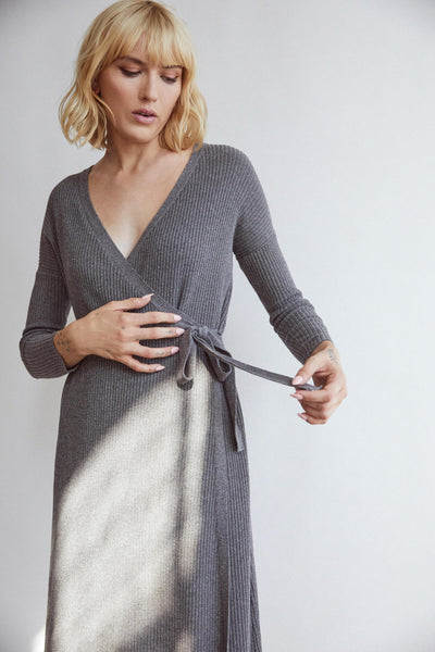 VETTA The Wrap Sweater Duster capsule wardrobe