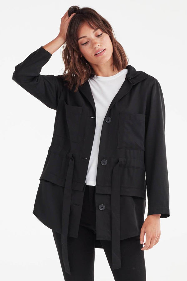 VETTA XS / Black The Utility Jacket capsule wardrobe
