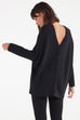 VETTA XS / Black The V-Neck Oversized Sweater capsule wardrobe