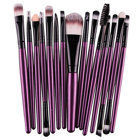 Beauty - 15 Piece Eye Shadow Foundation Eyebrow Lip Brush