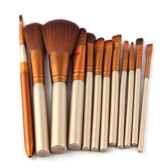 Beauty - Professional 12 Piece Make Up Brush Set -Foundation Face & Eye Powder Blusher