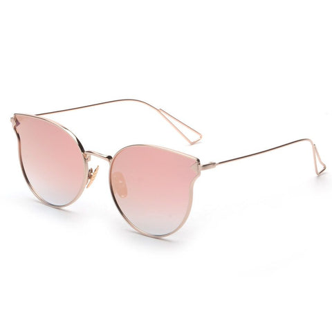 Flexin Cat Eye Reflective Mirror Sun Glasses - Luxxy Shop