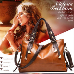 Hand Bag - Villach- Genuine  Lichee Pattern Leather Bag