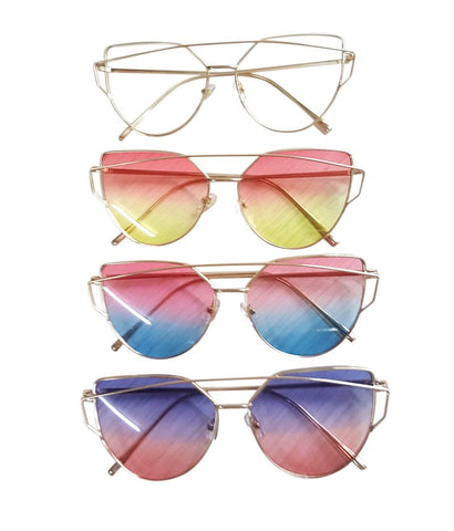 Horizon - Faded Aviator Cat Eye Sunglasses - Luxxy Shop