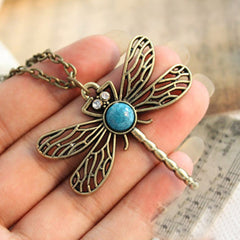 Fiona Dragonfly Pendant Chain - Luxxy Shop