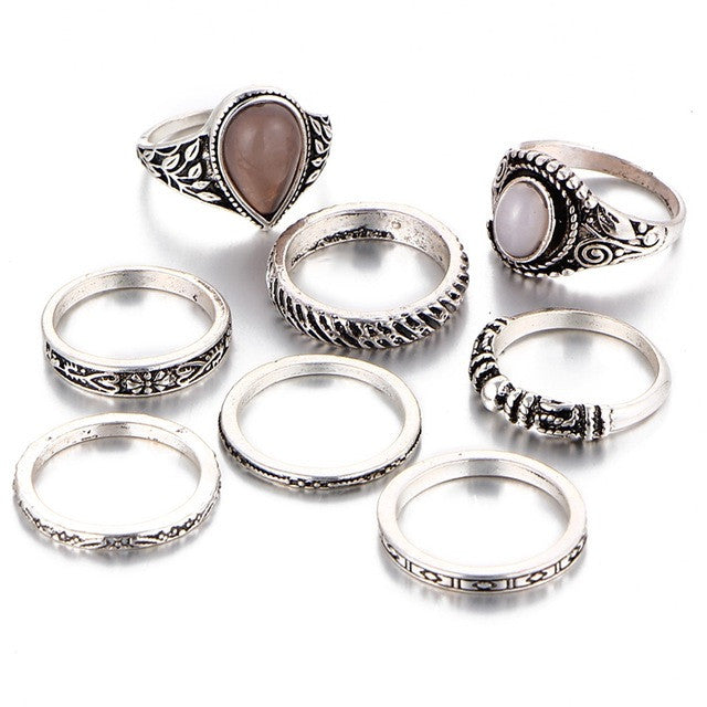 Lira Boho Ring set - Luxxy Shop