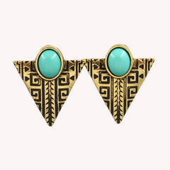 Vintage Triangle alloy drop earring