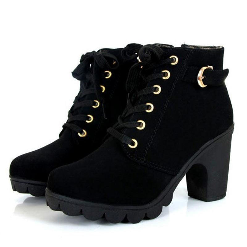 Alex- Lace up Ankle Boot - Luxxy Shop
