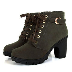 Shoes & Boots - Alex- Lace Up Ankle Boot