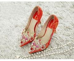Shoes & Boots - Milisente - Red Bridal Shoes