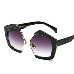Barcelona Oversized Pentagon Sunglasses, - Luxxy Shop