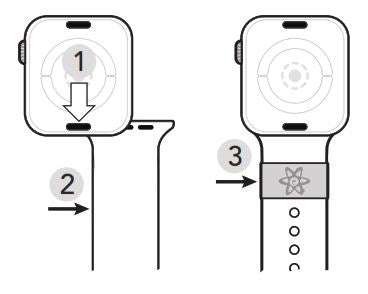 Changing Apple Watch Band Diagram