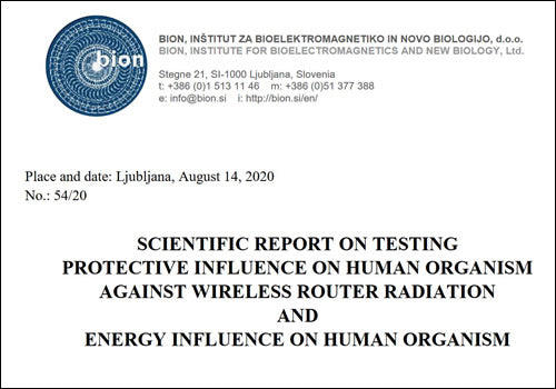 BION Institute EMF Protection Research Study