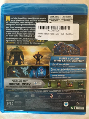 Iron Man Hulk Heroes United Blu-ray DVD Combo No Digital Copy